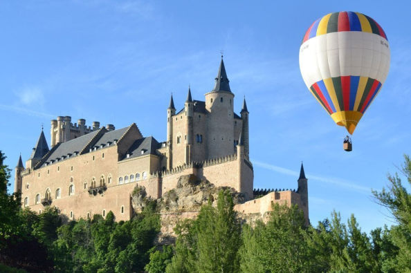 Flying next to the Alcazar