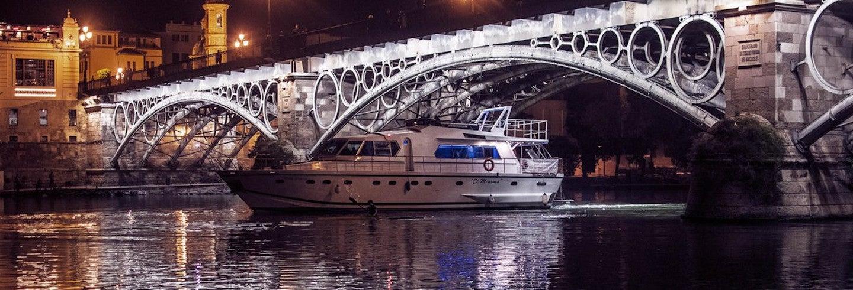 Crucero lujo con cena por Sevilla