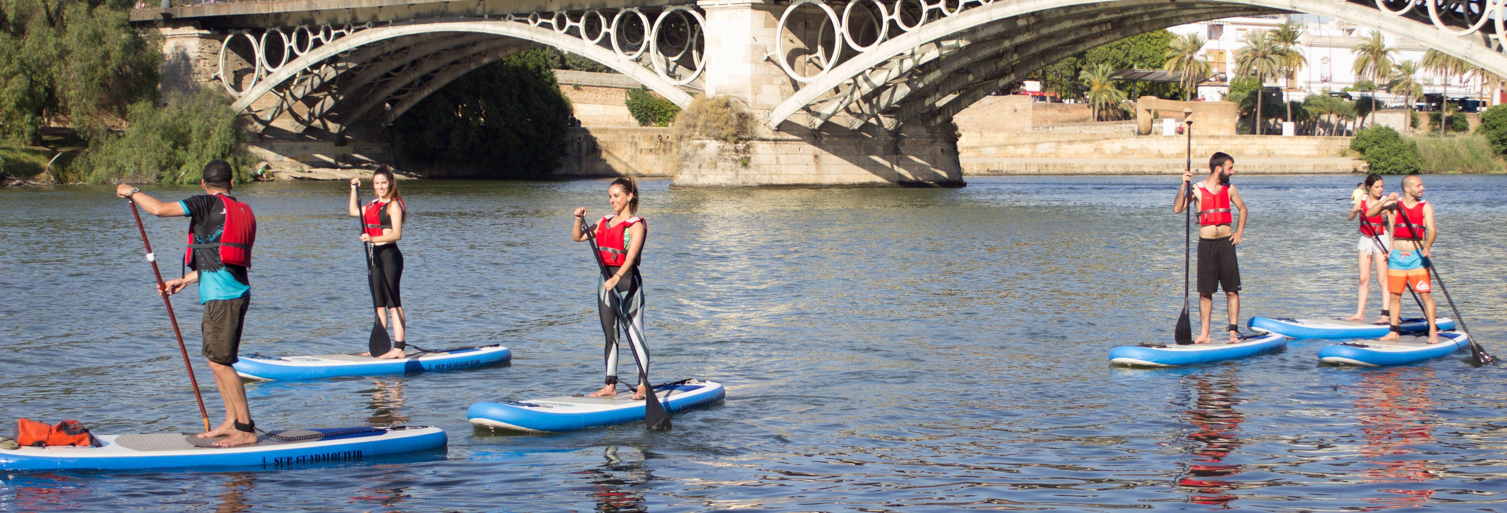 Paddleboarding in the Guadalquivir River