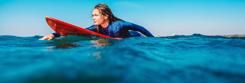 Curso de surfe em Somo