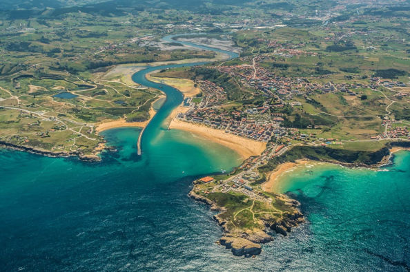 Panoramic view of Suances