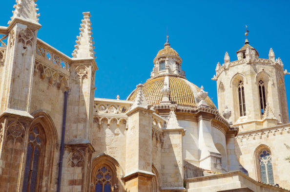 Gothic details of Tarragona Cathedral