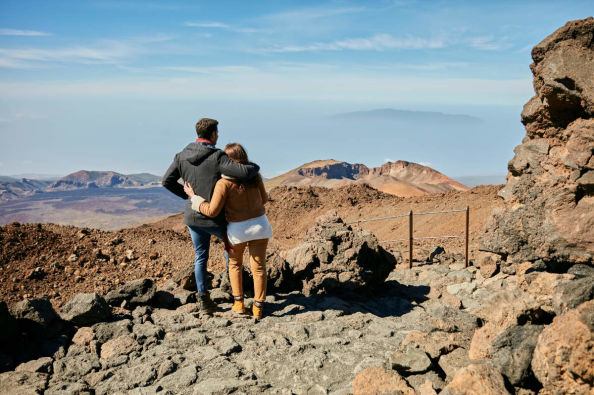 Enjoying the landscapes of the Teide
