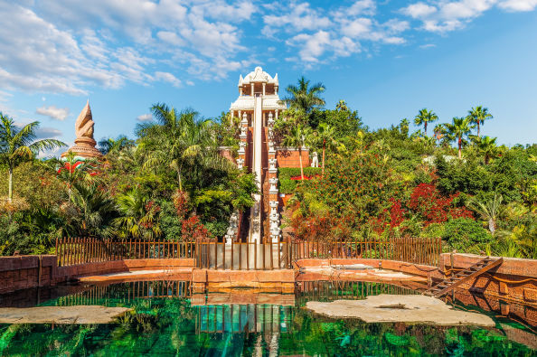 The tallest waterslide at Siam Park