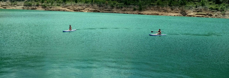 Paddle surf por el embalse de Arenós + Castillo de la Viñaza