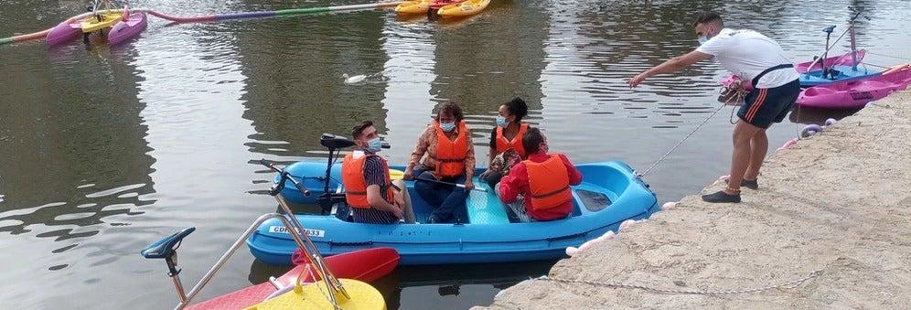 Alquiler de lancha sin licencia en el río Pisuerga