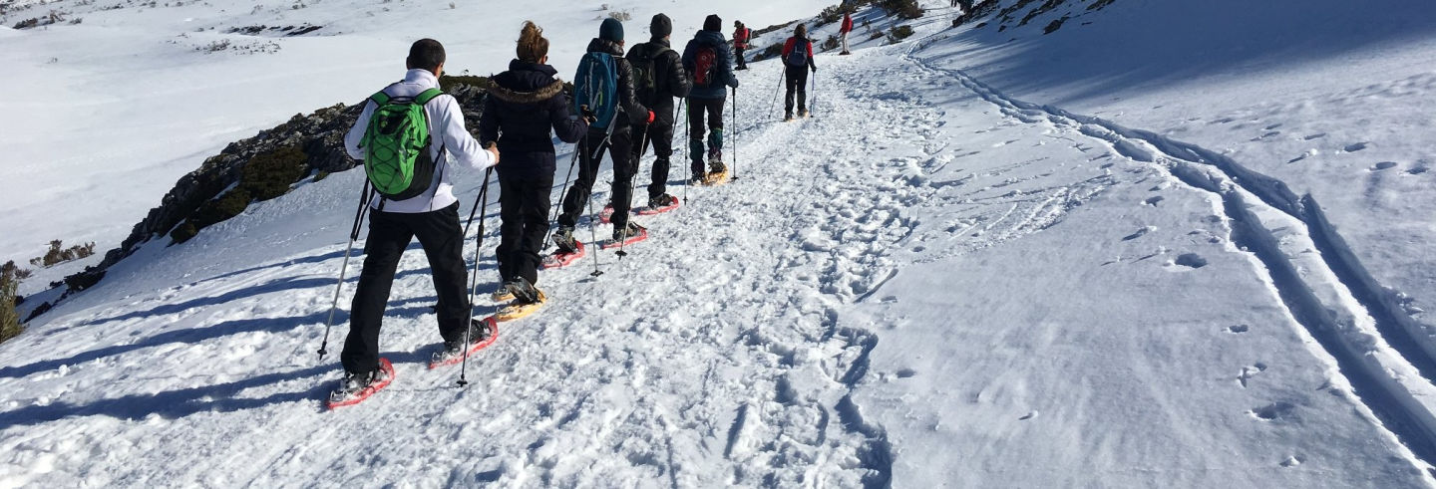 Paseo con raquetas de nieve por Villamanín