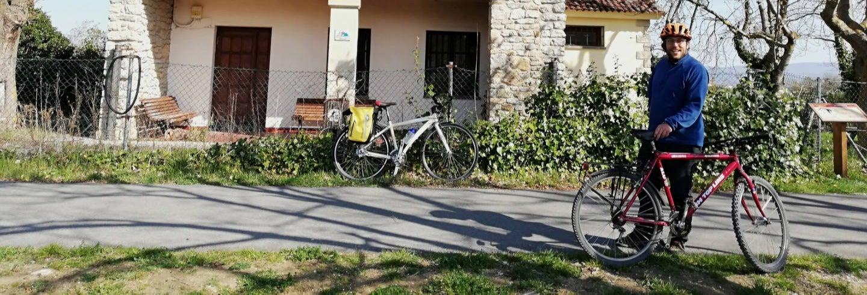 Tour de bicicleta pelo caminho Vasco-Navarro