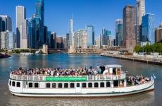Paseo en barco por el río Chicago