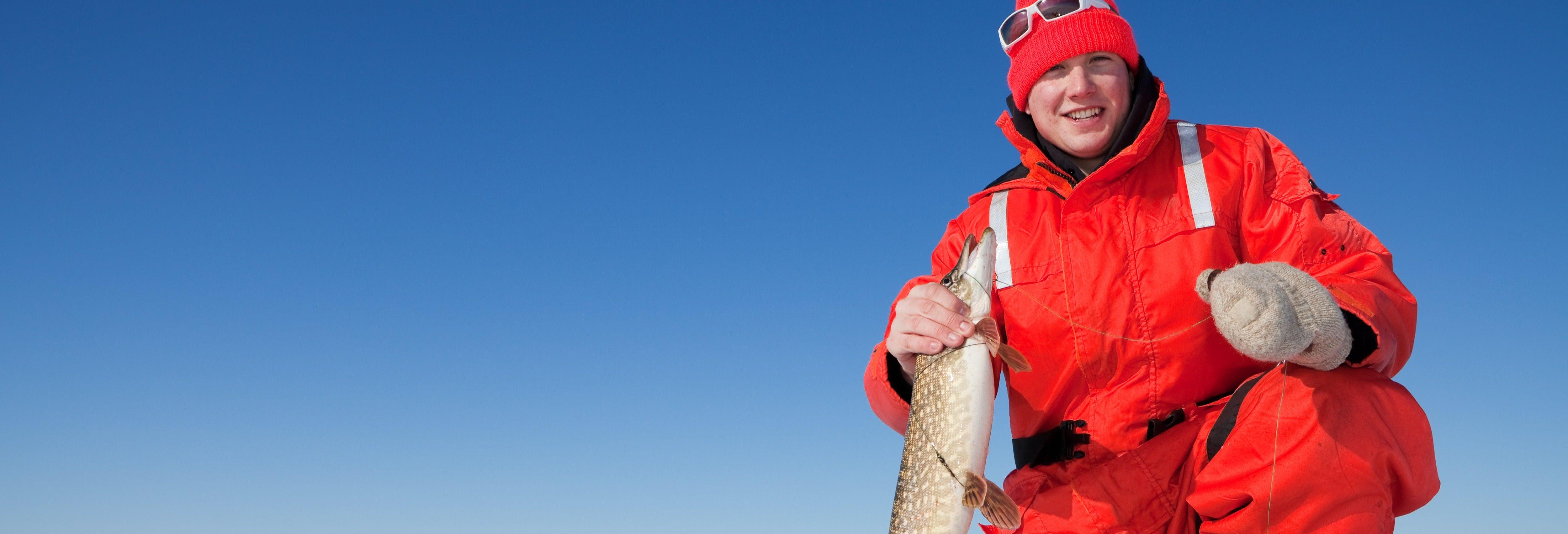 Pesca no gelo em Fairbanks
