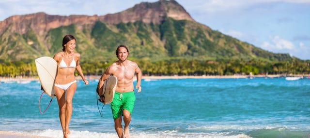 Curso privado de surf en Honolulu