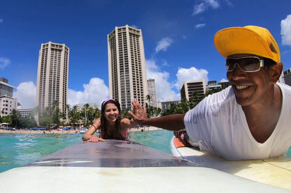 Learning to surf in Honolulu