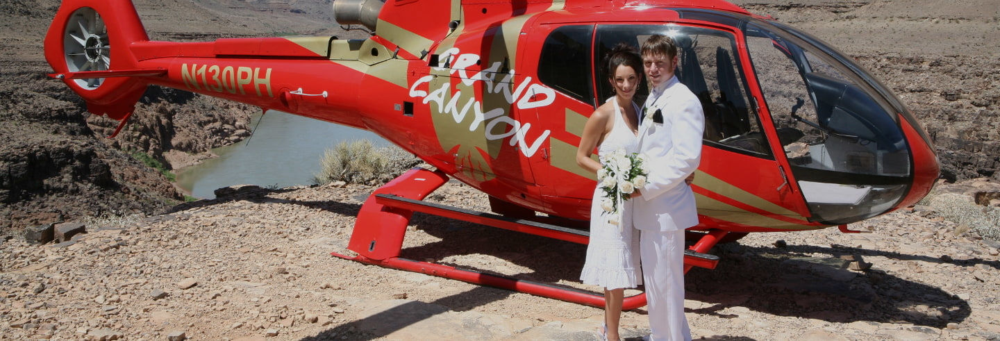 Matrimonio al Grand Canyon in elicottero