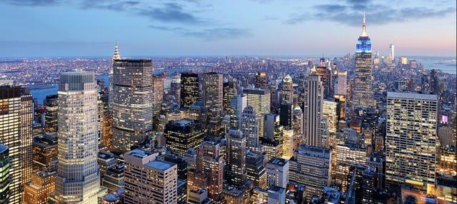 Paseo nocturno en helicóptero por Nueva York