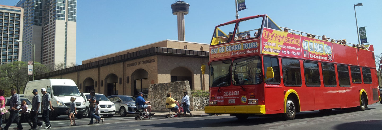 Ônibus turístico de San Antonio