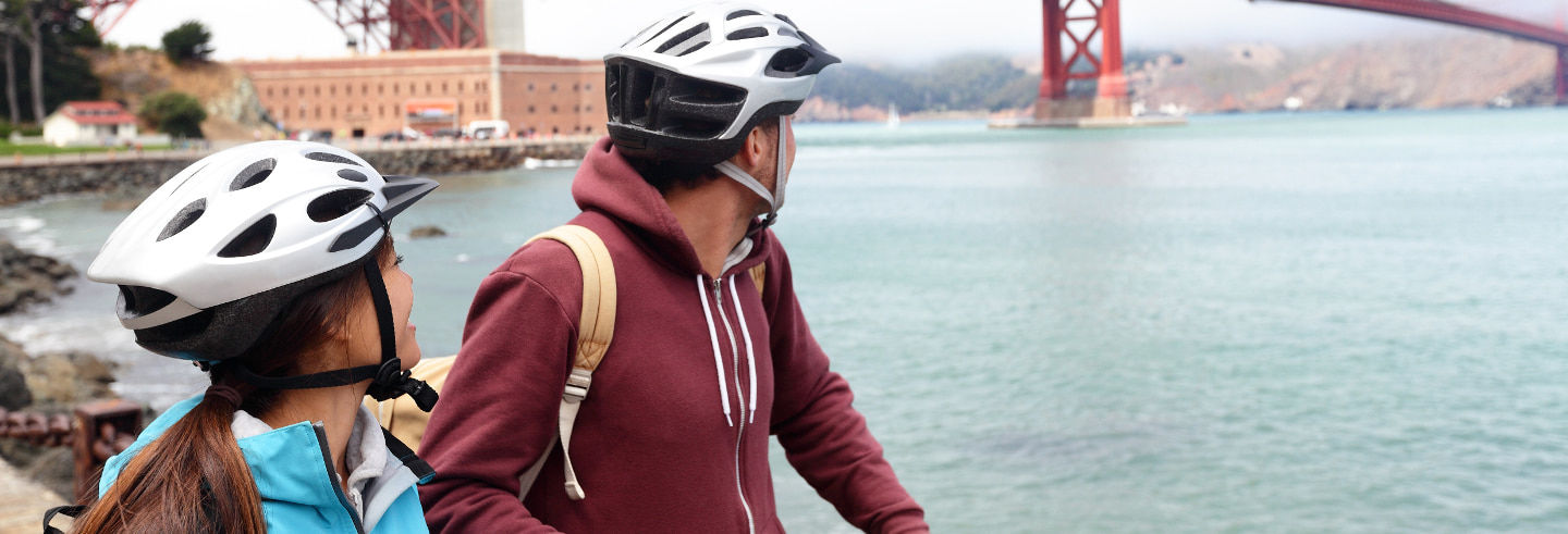 Balade à vélo à travers la baie de San Francisco