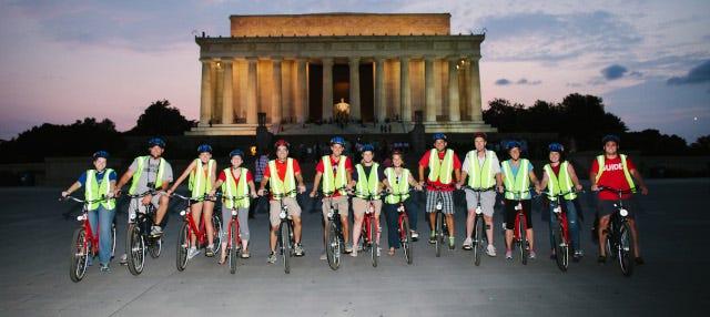 Tour nocturno en bicicleta por Washington