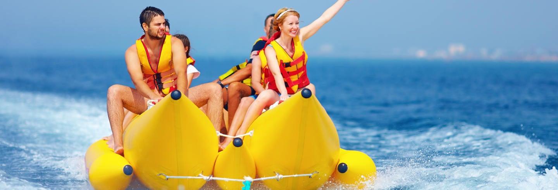 Paseo en banana boat por Boracay