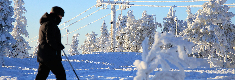 Esquí de fondo en el Parque Nacional Pyhä-Luosto