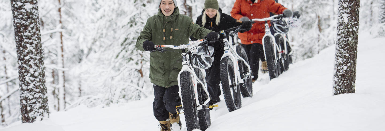 Tour de bicicleta pelo Parque Nacional Pyhä-Luosto