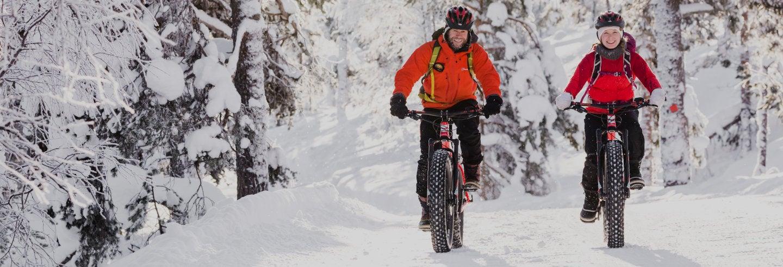 Tour de bicicleta elétrica pelo Parque Nacional Pyhä-Luosto