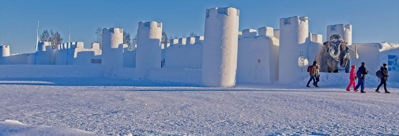 Excursão ao castelo de neve de Kemi
