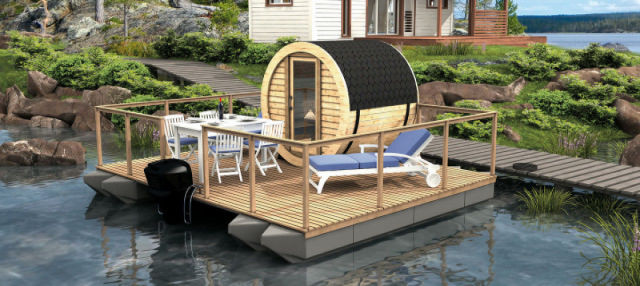 Sauna finlandesa flotante
