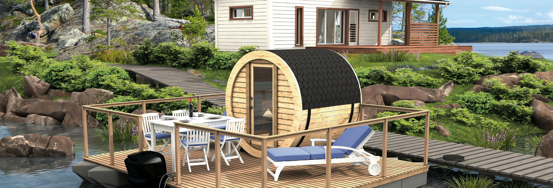 Sauna finlandese galleggiante