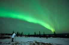 Tour fotografico dell'aurora boreale con barbecue
