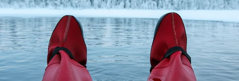 Flotación en un lago congelado