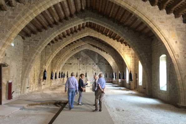 Visiting the Lagrasse Abbey