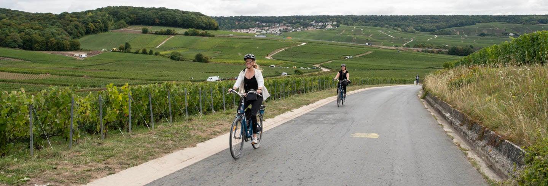 Tour dello champagne in bici elettrica