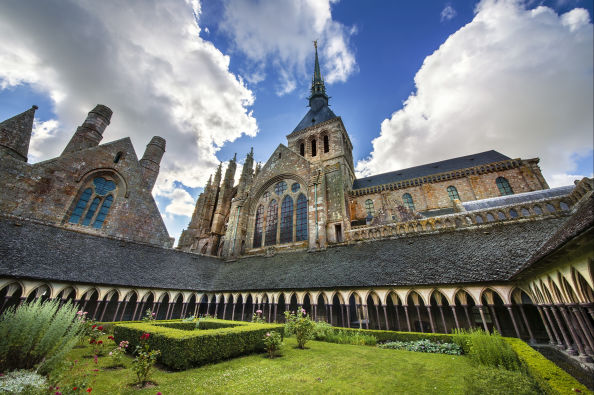 Cloister of the abbey of Mont-Saint-Michel