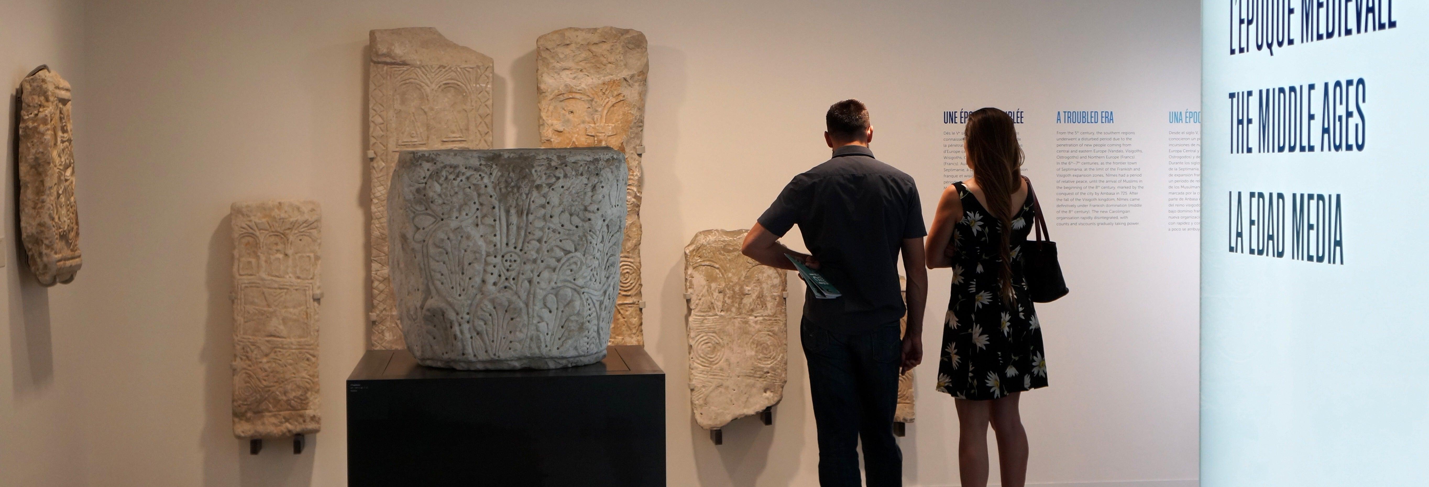 Entrada al Museo de la Romanidad de Nimes
