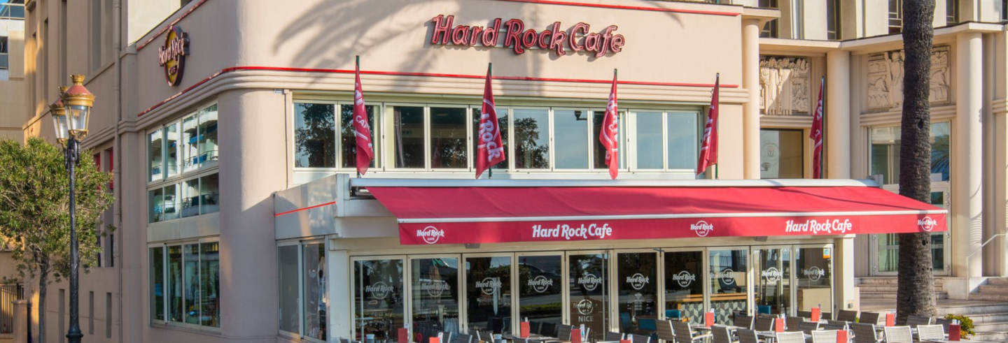 Pranzo o cena all'Hard Rock Cafe di Nizza