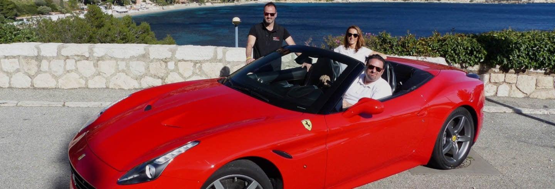 Tour en Ferrari o Lamborghini por la Costa Azul
