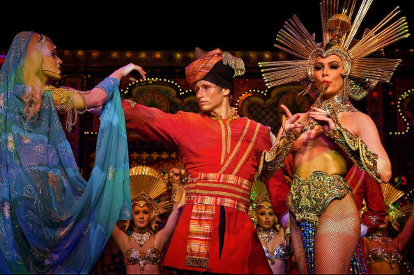 The show Féerie, at Moulin Rouge
