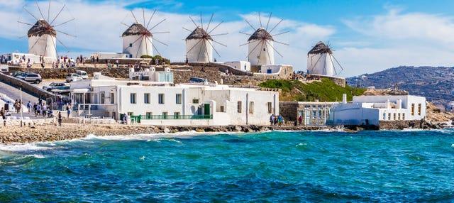 Escapada de 4 días a Mykonos y Santorini