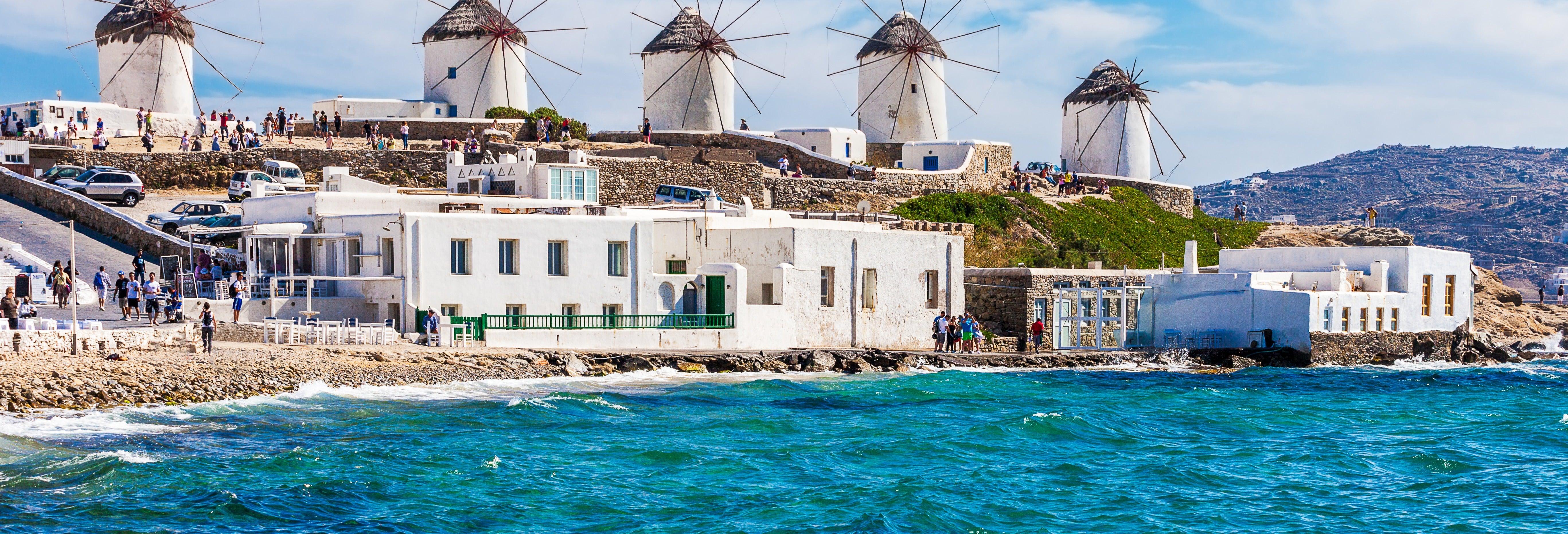 Escursione di 4 giorni a Mykonos e Santorini