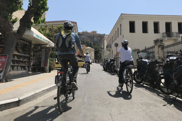 Touring Athens on an electric bike
