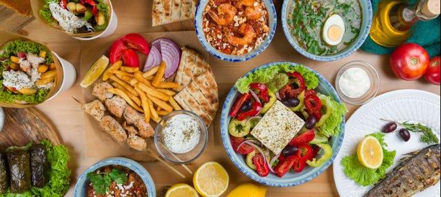 Aula de cozinha grega