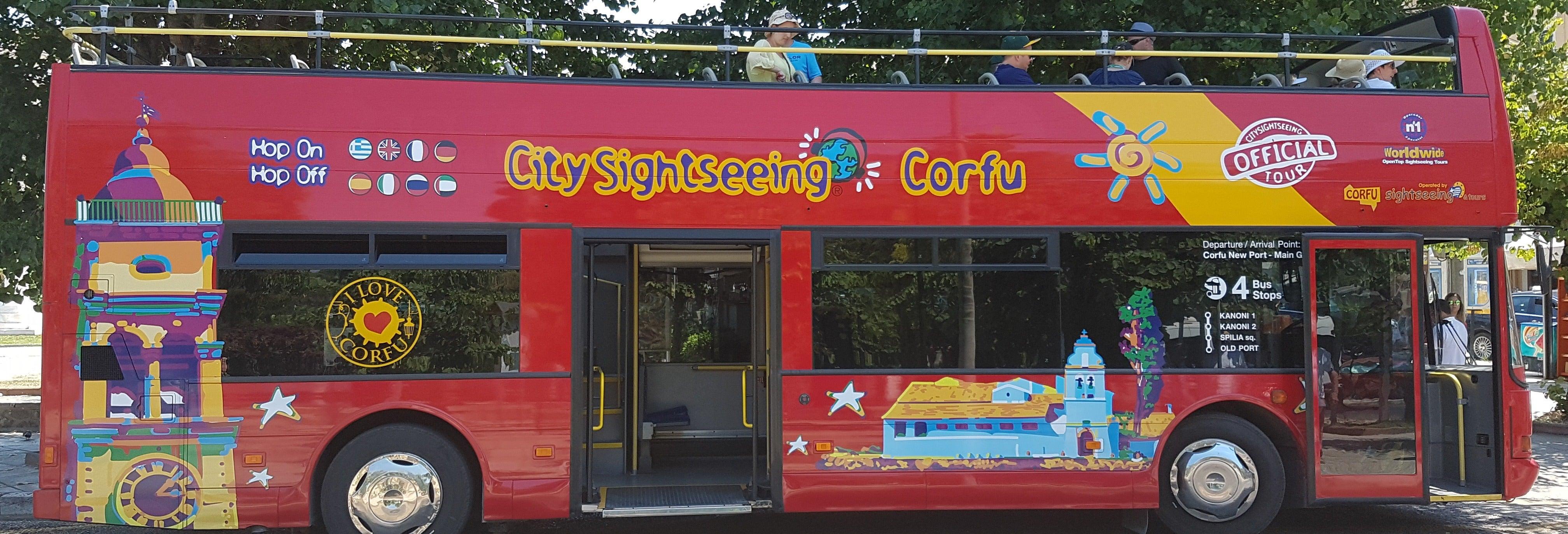 Bus touristique de Corfou