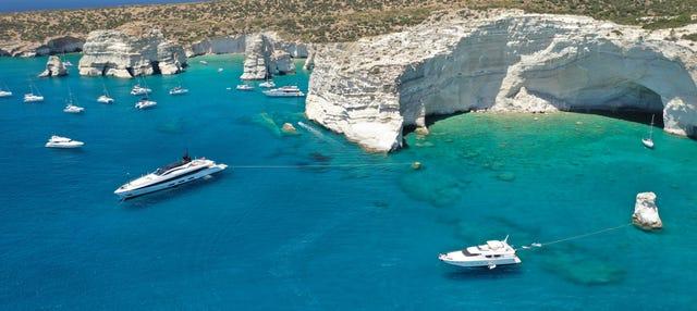 Milos Beach Boat Tour