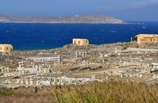 Excursion aux îles de Délos et Rhenia en bateau