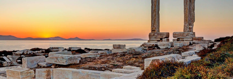 Visite du château de Naxos + Coucher de soleil à Portara