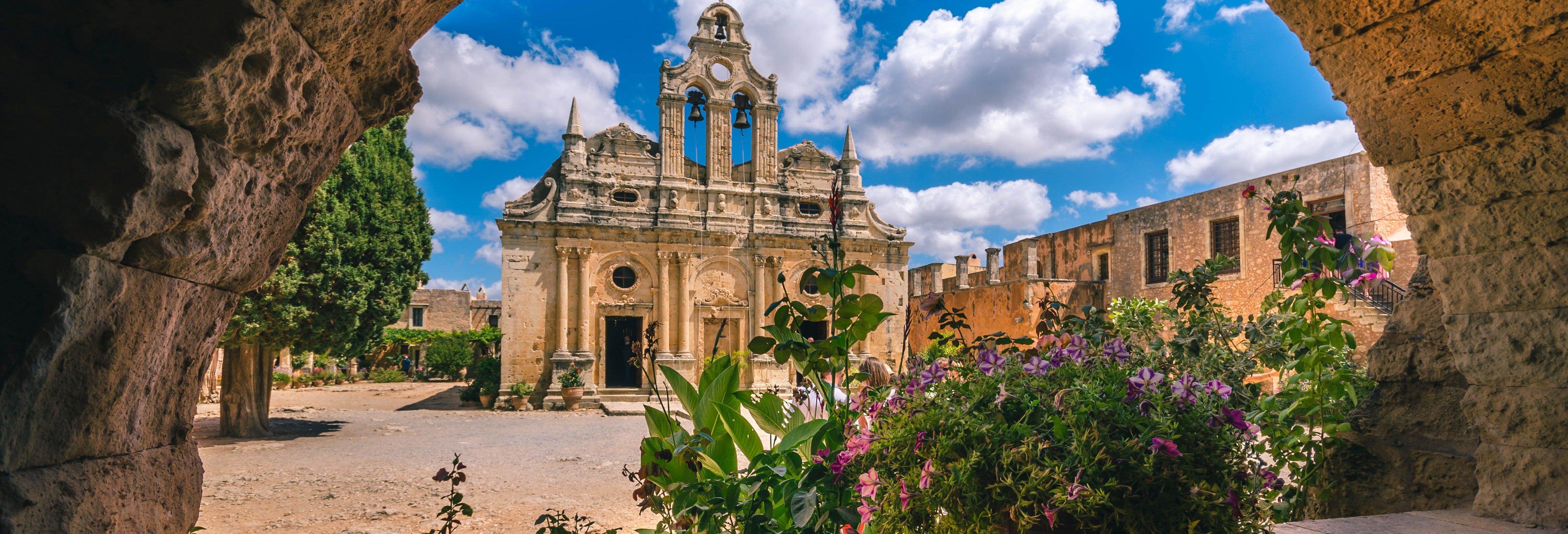 Excursão ao mosteiro de Arkadi, Margarites e gruta de Patsos