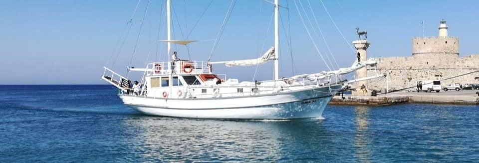Crucero con comida por la costa de Rodas