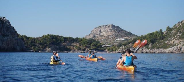 Tour della costa di Rodi in kayak