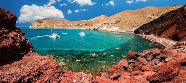 Excursión a Akrotiri, Playa Perissa y Oia