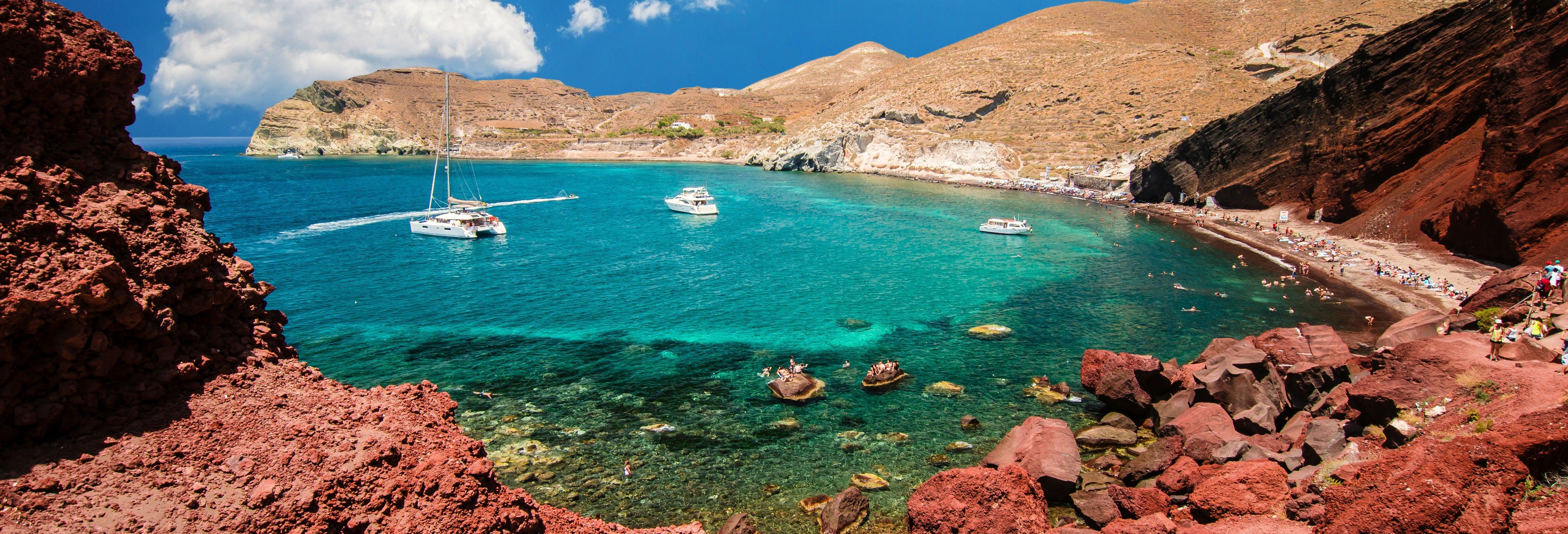 Excursão a Akrotíri, Praia Perissa e Oia